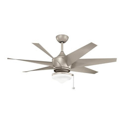Kichler - Antique Satin Silver Ceiling Fan - This Ceiling Fan is part of the Lehr Ii Collection and has an Antique Satin Silver Finish.