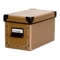Cargo - Cargo Naturals CD Box - Get your CDs organized, labeled and neatly tucked away in this brilliant little box. Ecofriendly, super stackable and dressed up in the color of your choice, it keeps 24 CD cases (or lots more CD sleeves) arranged in perfectly harmonious order.