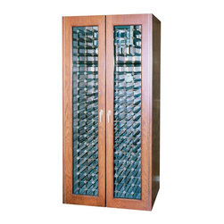 Vinotemp - Vinotemp 440TDG Glass Two Door - 440TDG - Shop for Wine Refrigerators from Hayneedle.com! Craftsmanship and attention to detail are the hallmarks of the Vinotemp 440TDG Glass Two Door Cooling Cabinet. This simple yet striking design features a pair of thermal double-paned glass doors that showcase the cabinet's contents beautifully. They boast piano hinges and brass finish metal hardware. The doors open to reveal ample storage space; the cabinet can accommodate approximately 280 bottles of wine. Universal 3.75-inch racking made of durable redwood and aluminum will fit most bottle sizes and there are removable racks around the self-contained cooler for storing magnums and other large bottles. Convenient digital temperature control makes it easy to customize specifications to fit your needs. This cabinet measures 38 inches wide by 29 inches deep and stands 82 inches tall.Handcrafted using domestic woods each Vinotemp wine-cooling cabinet maintains an ideal environment for both short-term storage and long-term aging of all types of wines. This all-in-one solution maintains a temperature of 55 degrees Fahrenheit and a humidity level ranging from 50 to 70 percent. The resulting environment is remarkably similar to that of the cool caves used to store wine in France. Each unit utilizes a Wine Mate 1500BTU self-contained cooling system with an insulation factor of R12. Please note that the back exhaust configuration requires a minimum of 4 to 6 inches on the back 12 inches on the sides and 6 to 12 inches above for proper ventilation.Bottle capacities are approximate and will vary depending upon bottle shape. Each cabinet is built to order with precision construction and attention to detail. Shipping range is 4-6 weeks.Note: Single Zone wine coolers are intended to store only one type of wine at a time as they have only one temperature zone that can be set to cool either red white or sparkling wine.About VinotempBased in Southern California since 1985 Vinotemp ha