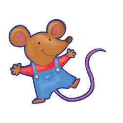 Boys room wall decor - Dungaree mouse decal is so cute for the nursery. Girls and boys will love this happy guy.
