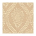 Ivory Medallion Trellis Linen Fabric - Large damask-like medallion in cream & ivory linen: the perfect centerpiece for traditional design.Recover your chair. Upholster a wall. Create a framed piece of art. Sew your own home accent. Whatever your decorating project, Loom's gorgeous, designer fabrics by the yard are up to the challenge!