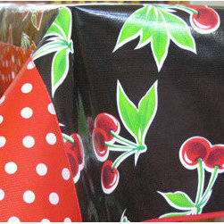 Black Cherry Tablecloth - Oilcloth tablecloths are a must-have. They come in bright colors and patterns and are super easy to clean.