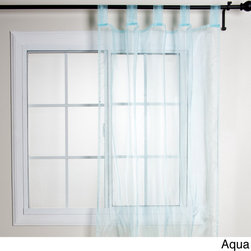 None - Tissue Organza Sheer Tab Top Curtain Panel - The Tissue Organza Curtain Panel is decorated in designer colors and features a sheer design. This window panel is light and airy,fun and colorful,and is sure to add a breezy,sophisticated touch to your home decor.