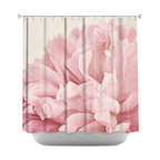 DiaNoche Designs - Shower Curtain Artistic - Peony - DiaNoche Designs works with artists from around the world to bring unique, artistic products to decorate all aspects of your home.  Our designer Shower Curtains will be the talk of every guest to visit your bathroom!  Our Shower Curtains have Sewn reinforced holes for curtain rings, Shower Curtain Rings Not Included.  Dye Sublimation printing adheres the ink to the material for long life and durability. Machine Wash upon arrival for maximum softness on cold and dry low.  Printed in USA.