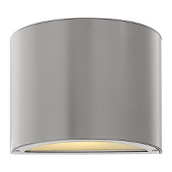 Hinkley Lighting - Hinkley Lighting HK-1666-TT Luna Contemporary Outdoor Wall Sconce - Luna is a modern collection of solid aluminum fixtures offered in a unique combination of contemporary styles, including sleek wall lanterns with a dual light source and decorative reflector. Luna also offers chic pocket wall sconces and compact ceiling m