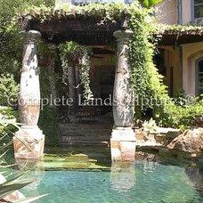 Mediterranean Exterior by Complete Landsculpture