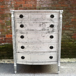 Custom Painted Dressers -Silver Leaf - Sold. Similar available in our current inventory of antique furniture. Email us at kingstonkrafts@gmail.com to receive photos of similar antique inventory. Or call 401-516-7711 to schedule a visit in our Providence, RI studio.