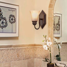 traditional bathroom lighting and vanity lighting by Kichler