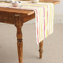 Anthropologie - Paint Stripe Table Runner - *By Boutique Textiles
