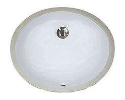 "Nantucket Sinks - Nantucket Sink UM-13x10-W Ceramic Lavatory Sink - Nantucket Sinks UM-13x10-W - 13"" x 10"" Undermount Ceramic Oval Bathroom Sink in White. This sink has a 1.75"" drain diameter."