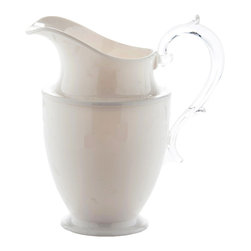 Mario Luca Giusti - Federica White Pitcher - Could you tell this is acrylic? It looks so real that everyone thinks it's crystal until they lift it. It is perfect for both casual and upscale gatherings.