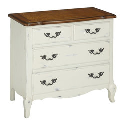 None - The French Countryside Drawer Chest - Home Styles French Countryside Collection boasts posh charm. From the proud French leg design to the unique one of a kind rubbed finish, the Home Styles French Countryside Collection is a flawless balance of warmth and elegance.
