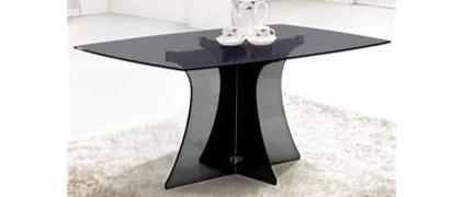 Image detail for -Serene Rectangular Smoke Black Glass Dining Table