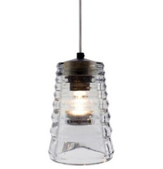 pendant lighting Pressed Glass Pendant - Tube by Tom Dixon