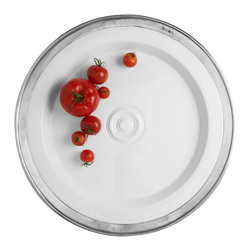 Match - Match Convivio Round Platter - This elegant round platter is  suited for serving your main course or favorite appetizer. Features a unique combination of porcelain and pewter and works for both traditional and modern settings.