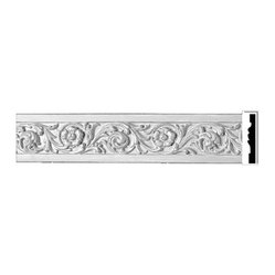 The Renovators Supply - Crown Moldings Urethane Juliet Crown Molding - Ornate | 10495 - Crown Moldings: Made of virtually indestructible high-density urethane our crown molding is cast from steel molds guaranteeing the highest quality on the market. High-precision steel molds provide a higher quality pattern consistency, design clarity and overall strength and durability. Lightweight they are easily installed with no special skills. Unlike plaster or wood urethane is resistant to cracking, warping or peeling.  Factory-primed our crown molding is ready for finishing.  3 7/8 inch H x 78 1/8 in L.
