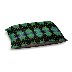 """DiaNoche Designs - Dog Pet Bed Fleece - Deep Blue Sea II - DiaNoche Designs works with artists from around the world to bring unique, designer products to decorate all aspects of your home.  Our artistic Pet Beds will be the talk of every guest to visit your home!  BARK! BARK! BARK!  MEOW...  Meow...  Reallly means, """"Hey everybody!  Look at my cool bed!""""  Our Pet Beds are topped with a snuggly fuzzy coral fleece and a durable underside material.  Machine Wash upon arrival for maximum softness.  MADE IN THE USA."""