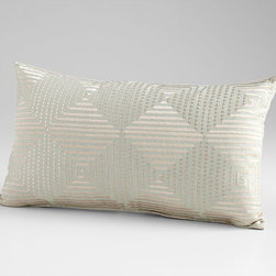 Cyan Design - Harlequin Shine Pillow - Harlequin shine pillow - sage green