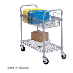 Safco Wire Mail Cart - A solid mail system is the nerve center of any business. For important deliveries, depend on the Safco Wire Mail Cart. Dual-handled and constructed of welded steel wires, the Safco Wire Mail Cart is a functional and dependable model perfect for any office. The top basket has been designed to hold up to 75 legal file folders (sold separately) and the bottom shelf is big enough for all packages and parcels. 4-inch swivel casters glide smoothly on both carpet and hard flooring. Cart has a maximum weight capacity of 600 lbs. Available in two sizes: 26.75L x 18.75W x 38H inches & 39L x 18.75W x 38.5H inches.About Safco ProductsSafco products were specifically developed to meet the changing needs of the business world, offering real design without great expense. Each product is designed to fit the needs of individuals and the way they work, by enhancing comfort and meeting the modern needs of organization in the workplace. These products encourage work-area efficiency and ultimately, work-life efficiency: from schools and universities, to hospitals and clinics, from small offices and businesses to corporations and large institutions, airports, restaurants, and malls. Safco continues to offer new colors, new styles, and new solutions according to market trends and the ever-changing needs of business life.
