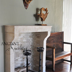 Stone Fireplaces - Ancient Stone Fireplaces by Ancient Surfaces.
