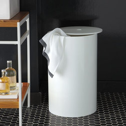 Lacquer Bath Hamper - This one is sleek and modern, and I love it. It would need to be close to the washer and dryer because it doesn't look too portable, but that's fine by me.