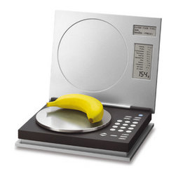 Salter Nutri-Weigh Dietary Computer Scale - This small laptop computer–like scale makes me think I am techy!
