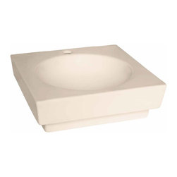 Renovators Supply - Vessel Sinks Bone Square Lucerne Vessel Sink | 15312 - Square Bathroom Sink, Vessel Sinks Above Counter: Made of Grade A vitreous China these sinks easily endure daily wear and tear. Our protective RENO-GLOSS finish resists common household stains and makes it an EASY CLEAN wipe-off surface. Ergonomic and elegant easy reach design reduces daily strain placed on your body. SPACE-SAVING design maximizes limited bathroom space. Easy, above counter installation let's you select from many faucet styles and countertop designs, sold separately. Measures 19 1/4 inch W x 19 1/4 inch projection