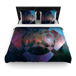"Kess InHouse - Matt Eklund ""Galactic Radiance"" Blue Purple Fleece Duvet Cover (Queen, 88"" x 88"" - You can curate your bedroom and turn your down comforter, UP! You're about to dream and WAKE in color with this uber stylish focal point of your bedroom with this duvet cover! Crafted at the click of your mouse, this duvet cover is not only personal and inspiring but super soft. Created out of microfiber material that is delectable, our duvets are ultra comfortable and beyond soft. Get up on the right side of the bed, or the left, this duvet cover will look good from every angle."
