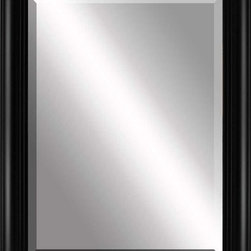 Paragon Decor - Beveled Mirror, Thick Rounded Black, 36x48 - Mirror, Mirror, on the wall, who's the most beautiful mirror of them all? Reflect your impeccable taste with this contemporary-style mirror, which features a gorgeous simple thick rounded black frame and high-quality interior beveled mirror. This piece measures 42 inches wide, 2 inches deep, and 54 inches high.