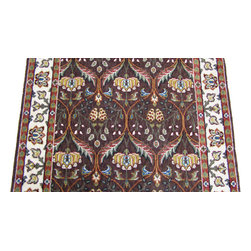 Momeni - Persian Garden 30 Inch Runner Traditional Stair Runner Cocoa Brown - Stair & Hallway Runners Are Sold By The Linear Foot!