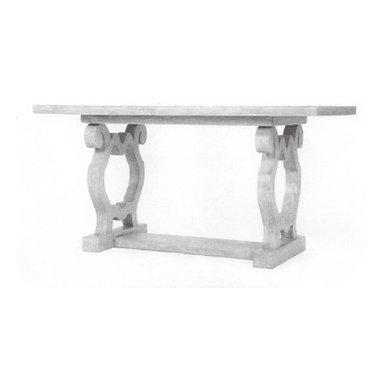 Modern Desk - 72x30x30 Artistic desk in Pompeii finish. Beautiful scroll leg design.