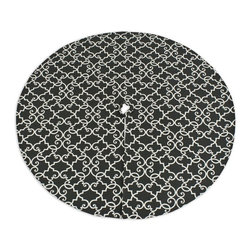 Chooty & Co. - Chooty and Co. Woburn Slate Round Lined Tree Skirt Multicolor - TS513301 - Shop for Holiday Ornaments and Decor from Hayneedle.com! The problem with traditional tree skirts is that they commonly share the same holly or snowflake motif as the very gifts and ornaments found around your centerpiece. The Chooty and Co. Woburn Slate Round Lined Tree Skirt however features an ornate black and white pattern that will contrast beautifully with the vibrant gifts and festive trinkets really allowing your decorative to pop against the dark backdrop. About Chooty & Co.A lifelong dream of running a textile manufacturing business came to life in 2009 for Connie Garrett of Chooty & Co. This achievement was kicked off in September of '09 with the purchase of Blanket Barons well known for their imported soft as mink baby blankets and equally alluring adult coverlets. Chooty's busy manufacturing facility located in Council Bluffs Iowa utilizes a talented team to offer the blankets in many new fashion-forward patterns and solids. They've also added hundreds of Made in the USA textile products including accent pillows table linens shower curtains duvet sets window curtains and pet beds. Chooty & Co. operates on one simple principle: What is best for our customer is also best for our company.