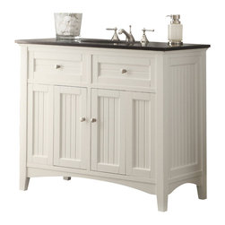 "Cottage Style Thomasville Bathroom Sink vanity 42"" - The plantation-inspired look of this cottage-style sink vanity cabinet is a sophisticated piece. This clean lining bathroom vanity offers a look that will create a relaxing retreat in any home."