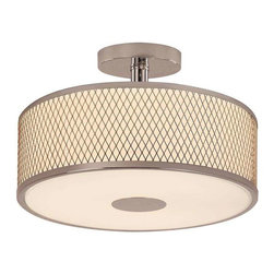 Trans Globe Lighting - Trans Globe Lighting 10141 PC Semi Flushmount In Polished Chrome - Part Number: 10141 PC