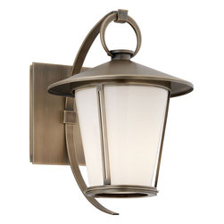 Troy Lighting - Antique Brass Rennie 1 Light 11 Solid Brass Outdoor Wall Sconce - The exterior wall sconces of the Rennie Collection are a hybrid of diverse styles that are fused in a truly delightful manner to produce clean, handsome fixtures.