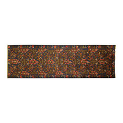 Manhattan Rugs - New Geometric Art Runner Baluch Hand Knotted Wool Design All-Over Rug P93 - They have a very distinctive type of rugs recognizable at a glance. Anyone remotely familiar with oriental rugs could hardly mistake a typical example