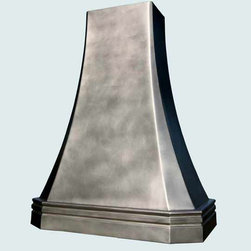 Pewter Hood | Handcrafted Metal - Handcrafted Metal makes custom pewter hoods in a variety of styles. We can make them to perfectly accommodate your kitchen, no matter how complicated. With us you can fully customize the size and features according to your vision, and the price will be adjusted to your specifications.