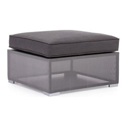 Zuo Modern - Zuo Clear Water Bay Ottoman in Gray - Clear Water Bay Ottoman Gray by Zuo Modern Versatile and durable, the Clear Water Outdoor series will transform any outdoor setting. The frame is aluminum with a textile weave outer covering. Cushion ins are made of an antimicrobial foam with a UV and water resistant fabric cover. Ottoman (1)