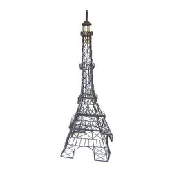 Black Metal Eiffel Tower Decor