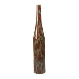 Danube Mexican Pottery Oversized Vase - The Danube Mexican Pottery Oversized Vase is crafted from traditional Mexican clay with a red and beige finish, and features a sleek, slender neck. In your choice of size.About IMAXWhat began as a small company importing copper flower containers in 1984 by Al and Faye Bulak has developed into one of the top U.S. import companies serving the At Home market today. IMAX now provides home and garden accessories imported from twelve countries around the world, housed in a 500,000 square foot distribution center. Additional sourcing, product development and showroom facilities in the USA, India and China make IMAX a true global source. They're dedicated to providing products designed to meet your needs. This is achieved through a design and product development team that pushes creativity, taste and fashion trends - layering styles, periods, textures, and regions of the world - to create a visually delightful and meaningful environment. At IMAX, they believe style, integrity, and great design can make living easier.