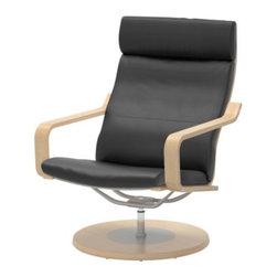 Noboru Nakamura - POÄNG Swivel chair - Swivel chair, birch veneer, Bas black