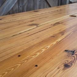 Heart Pine Industrial Farm Table - Woodstock Vintage Lumber