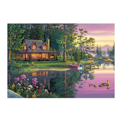 Masterpieces - Masterpieces EZ Grip Lakeside Retreat Puzzle Multicolor - 71362 - Shop for Puzzles from Hayneedle.com! About Masterpieces Puzzles & GamesFor the past 17+ years Masterpieces has delighted kids and parents. From art kits to puzzles of all levels Masterpieces ensures playtime activities that develop cognition as much as they foster fun. All Masterpiece items are tested for safety and this company is definitely eco-minded: All of their puzzles are manufactured using board with 100% recycled post-consumer materials their puzzle sheets wraps and catalogs are printed with soy-based inks and even included storage bags are biodegradable. Quality mindful products are what you can expect from Masterpieces.