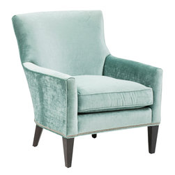 Winnie Chair - This dazzling stallion is beautifully trim with nickel nailheads around the edges.