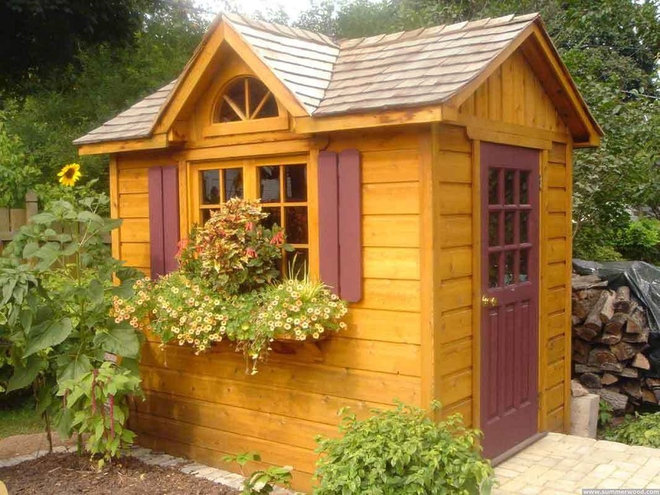 Traditional Garage And Shed by Summerwood Products