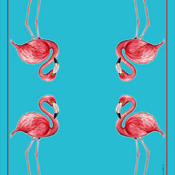 """Betsy Drake - Betsy Drake Flamingo Throw - Warm and richly designed, these 50""""x60"""" throws brighten up any decor."""
