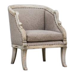 Uttermost - Swaun Hand Carved Armchair - Swaun Hand Carved Armchair