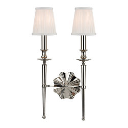 HUDSON VALLEY LIGHTING - Hudson Valley Lighting Ellery-Wall Sconce Polished Nickel - Free Shipping