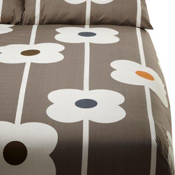 """Orla Kiely - Orla Kiely Abacus Duvet Cover Set - Twin - Duvet cover set from Orla Kiely's Abacus bed linen collection. 100% combed cotton; 200 thread count; machine wash. Twin set measures: 72"""" x 90""""; Sham: 20"""" x 28"""""""