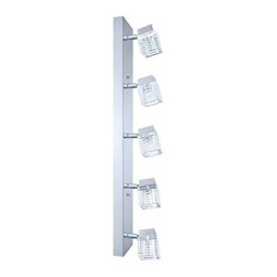Eglo - Quarto 5-Light LED Ceiling/Wall Light - The clear glass shades of the Quarto vanity fixtures are elegant and marvelously refract their clean LED light.